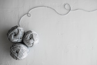 Gray Yarn Skeins