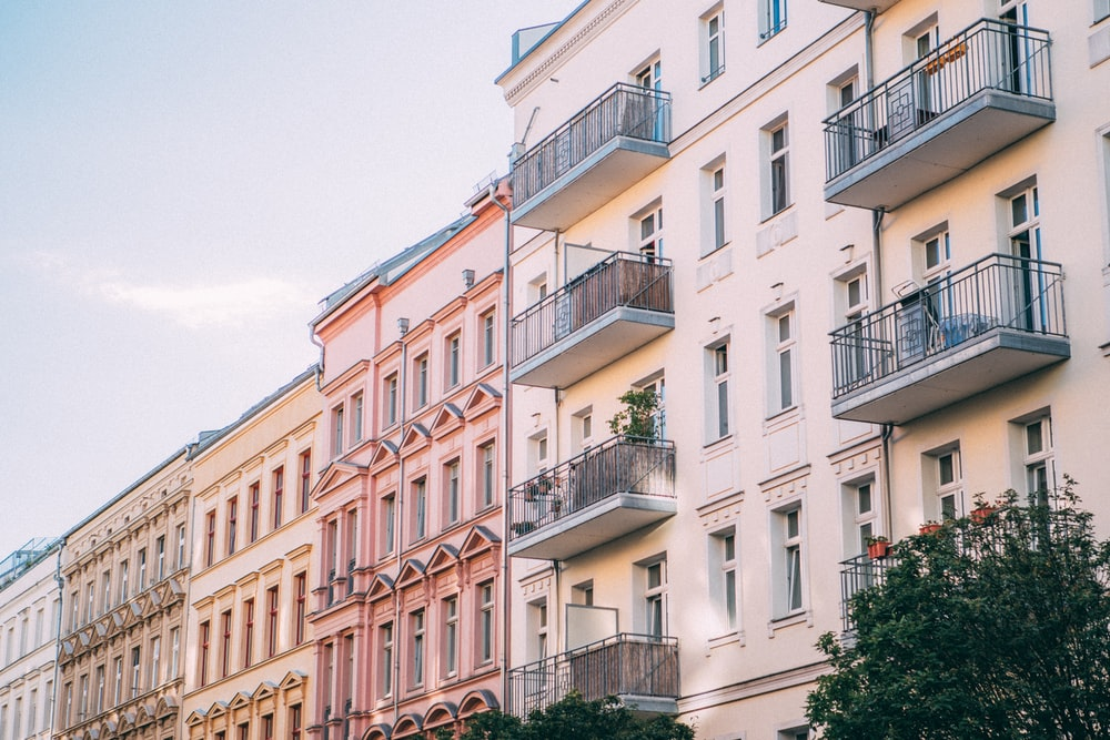 white and pink buildings during daytime