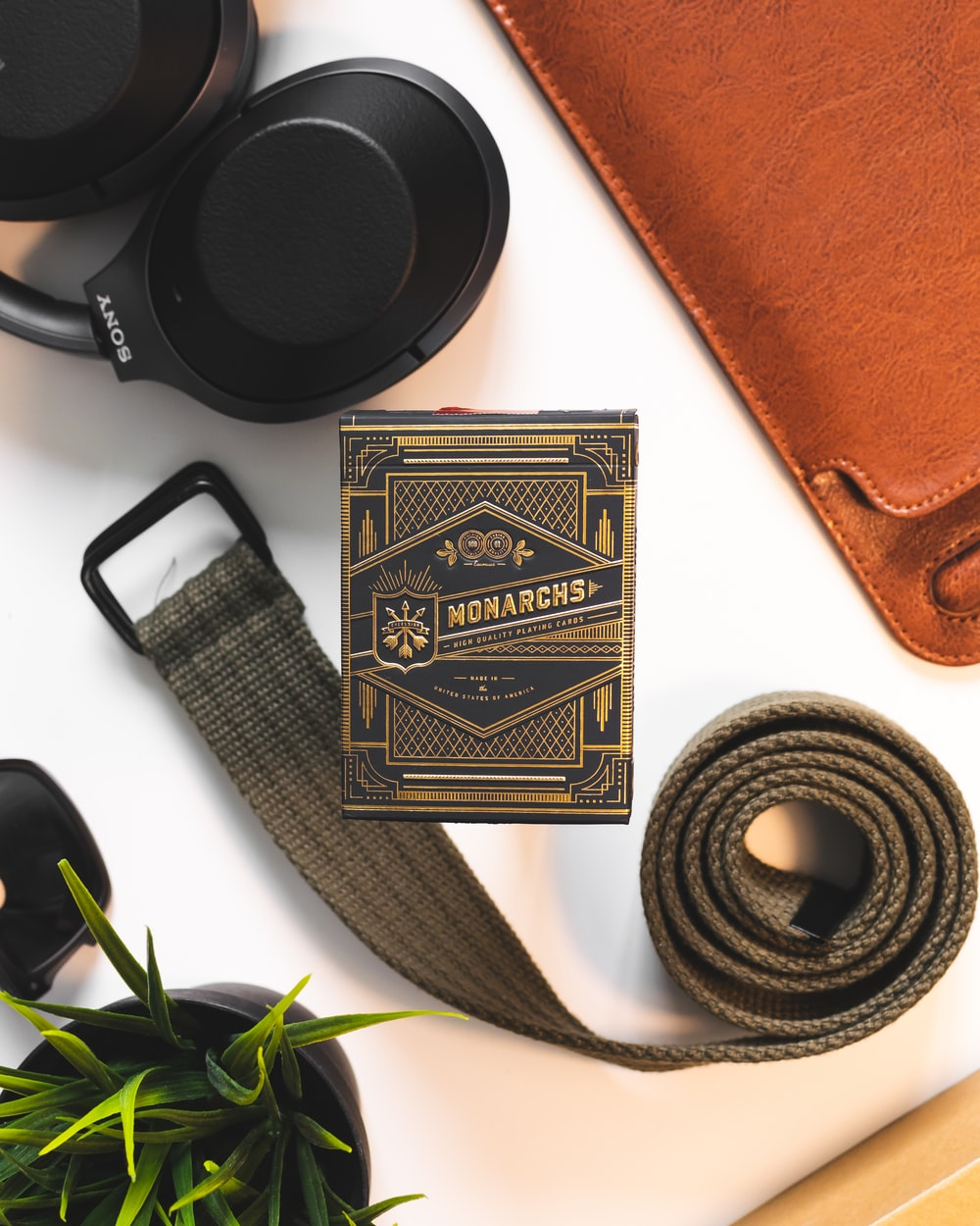 brown belt with buckle