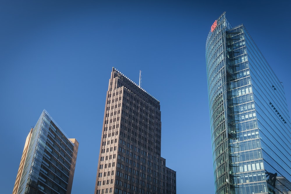 worms-eye-view of buildings during daytime