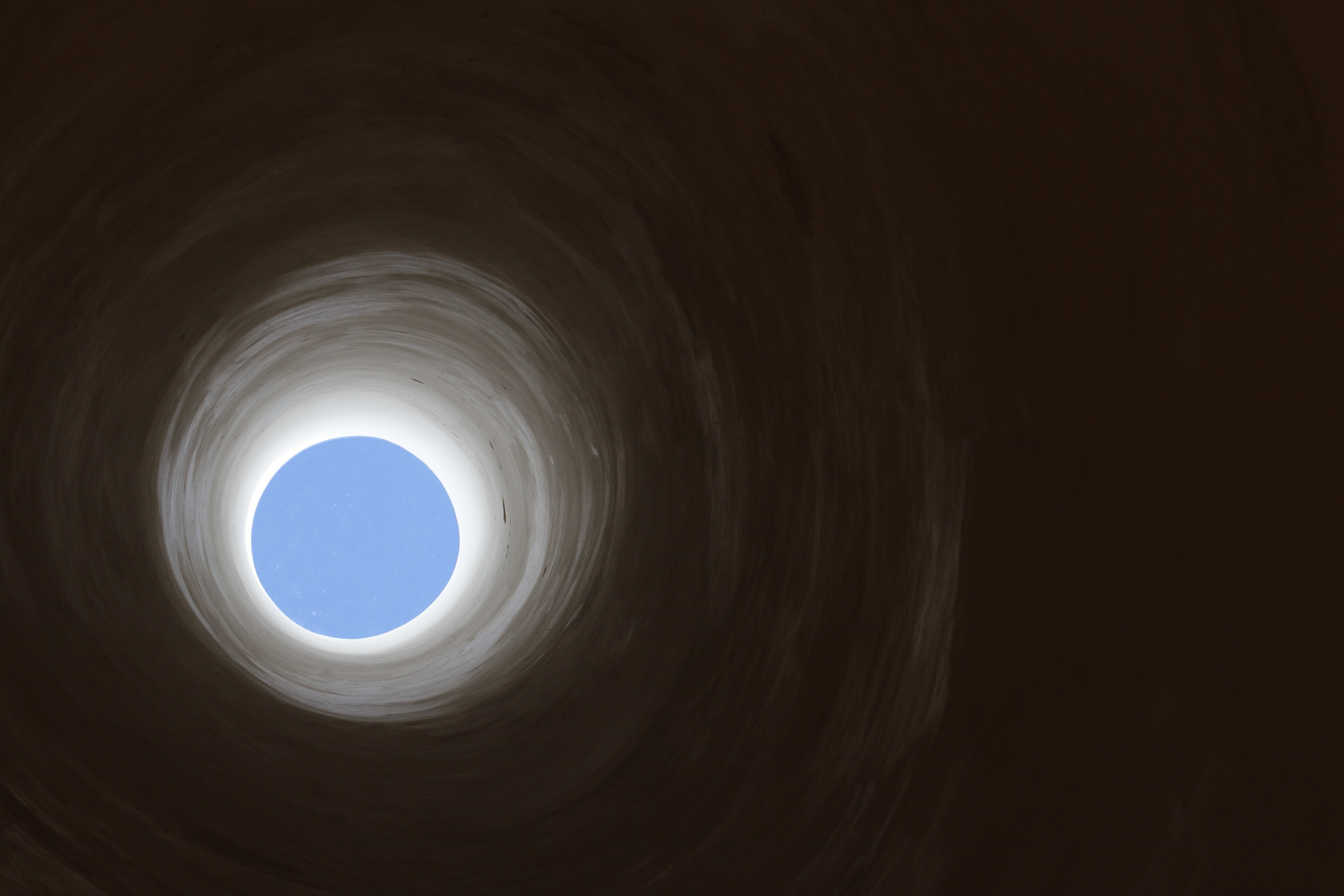 dark white tunnel
