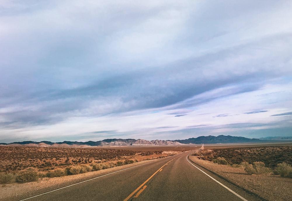 landscape photography of road at savannah