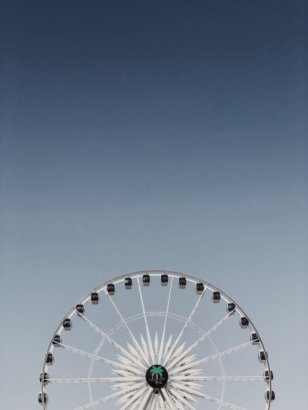white and black Ferris wheel