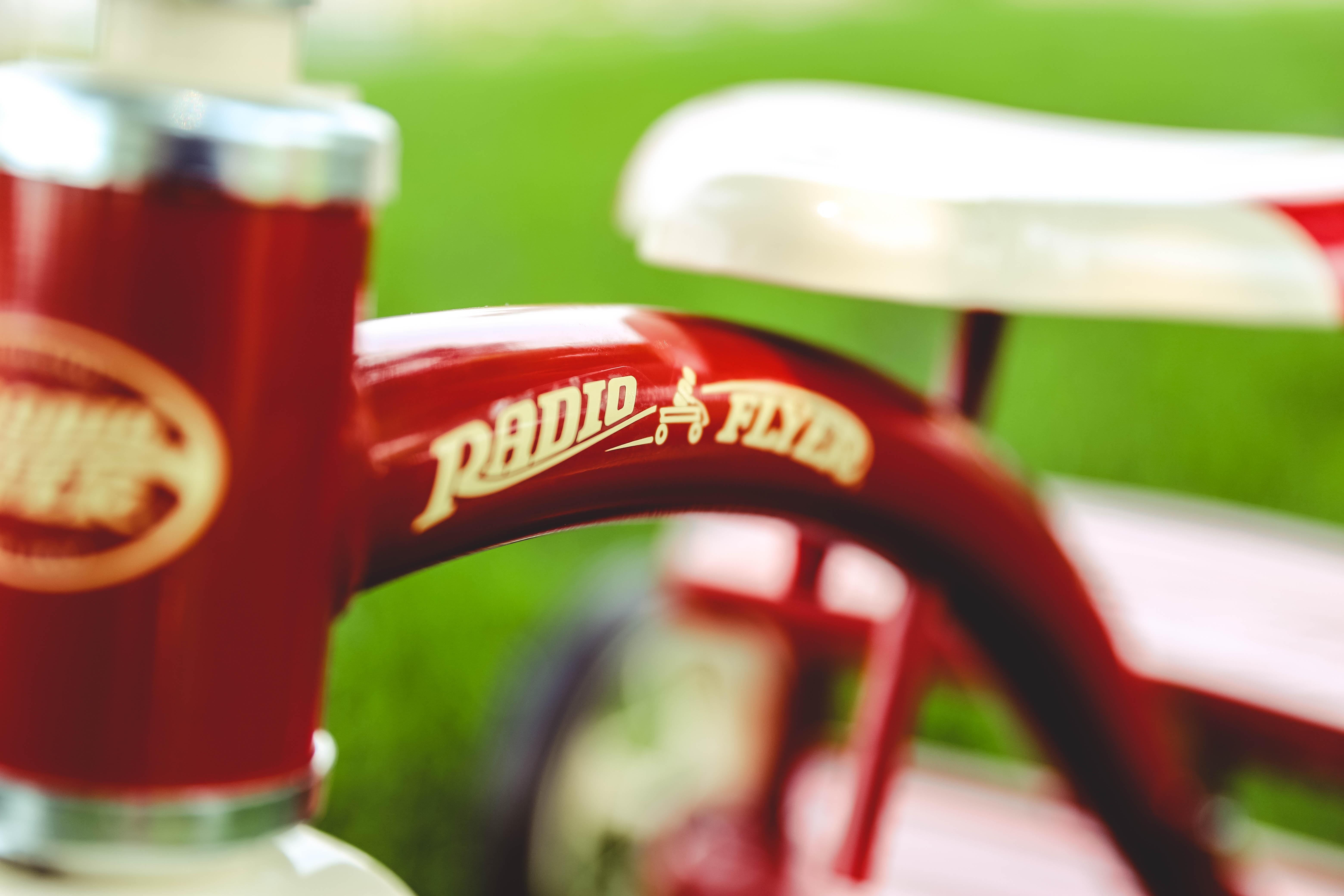 red Radio bike frame