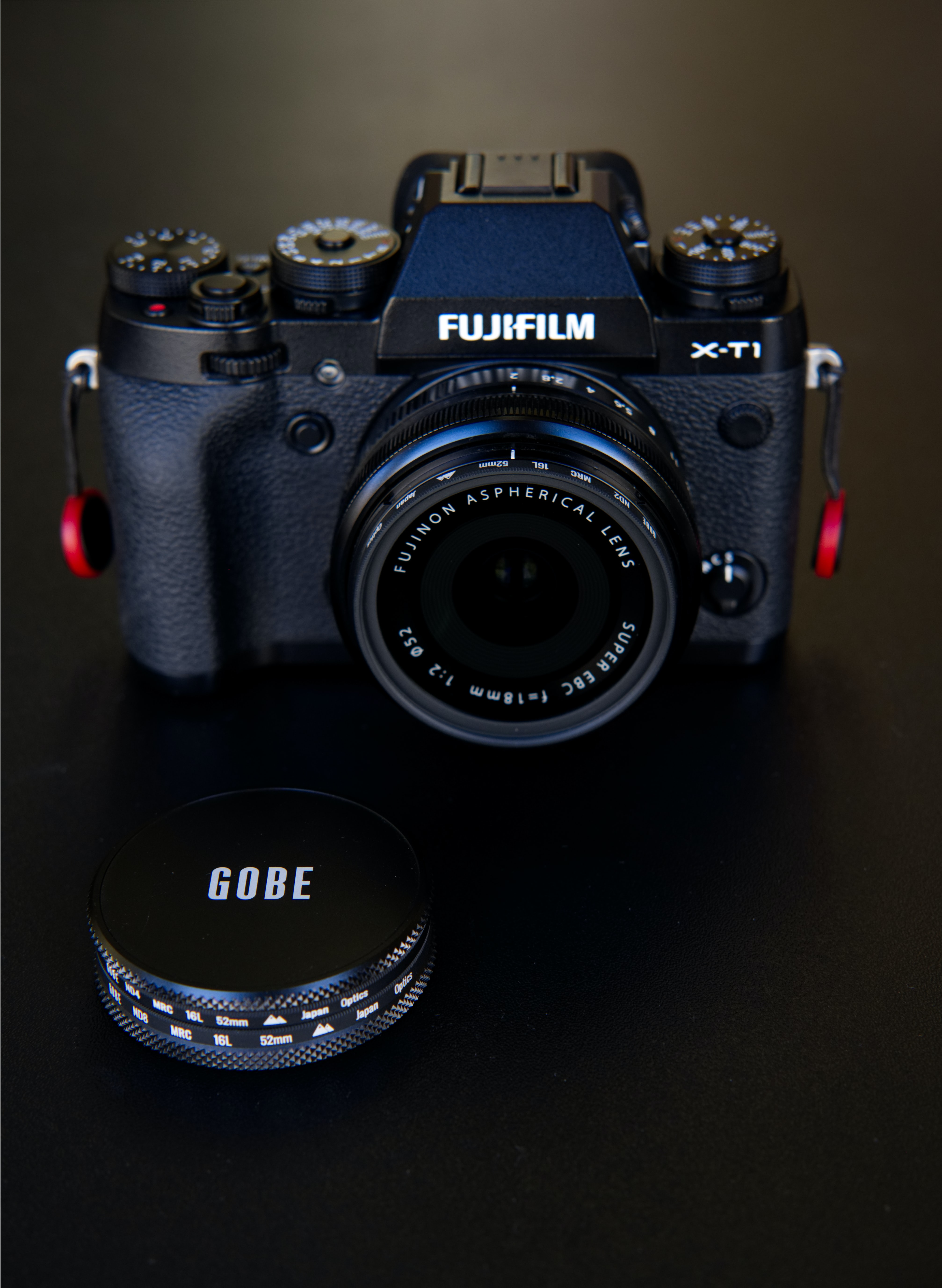 Fujifilm DSLR camera turned-on