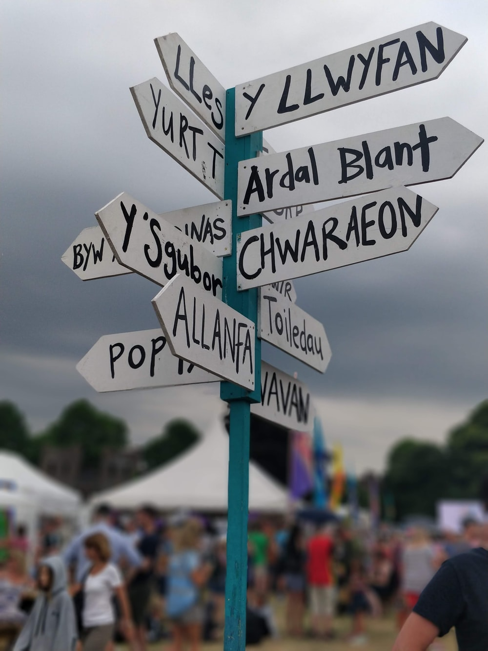 assorted-direction signage