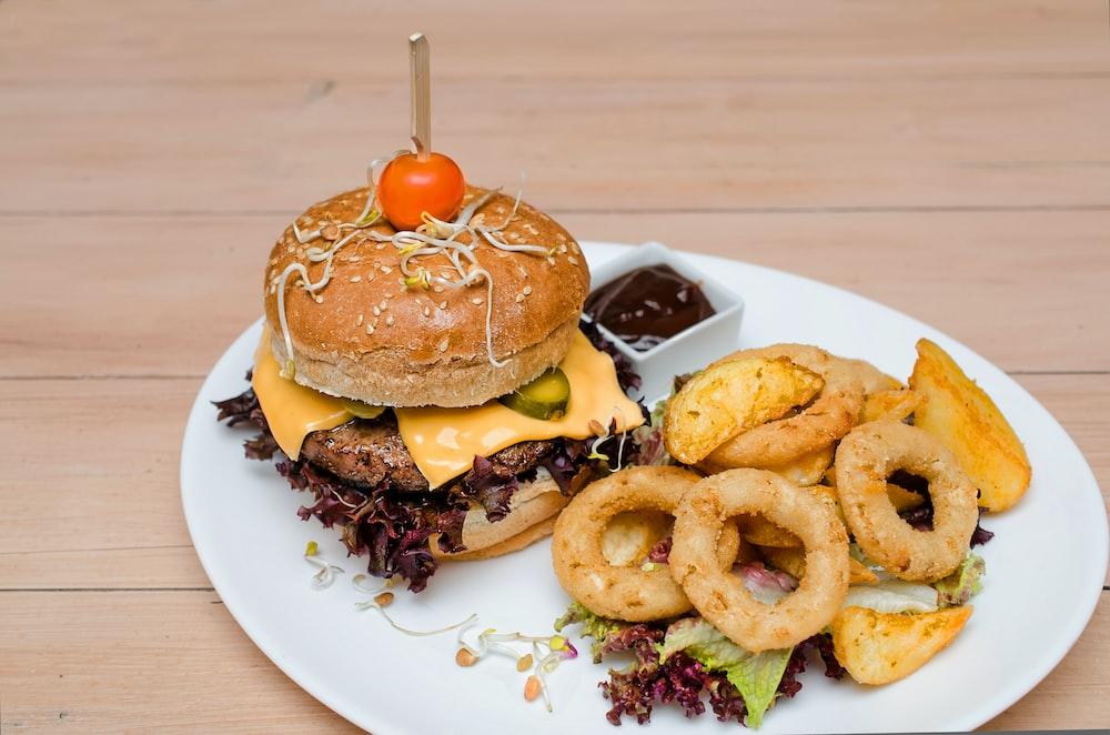 calamari and hamburger
