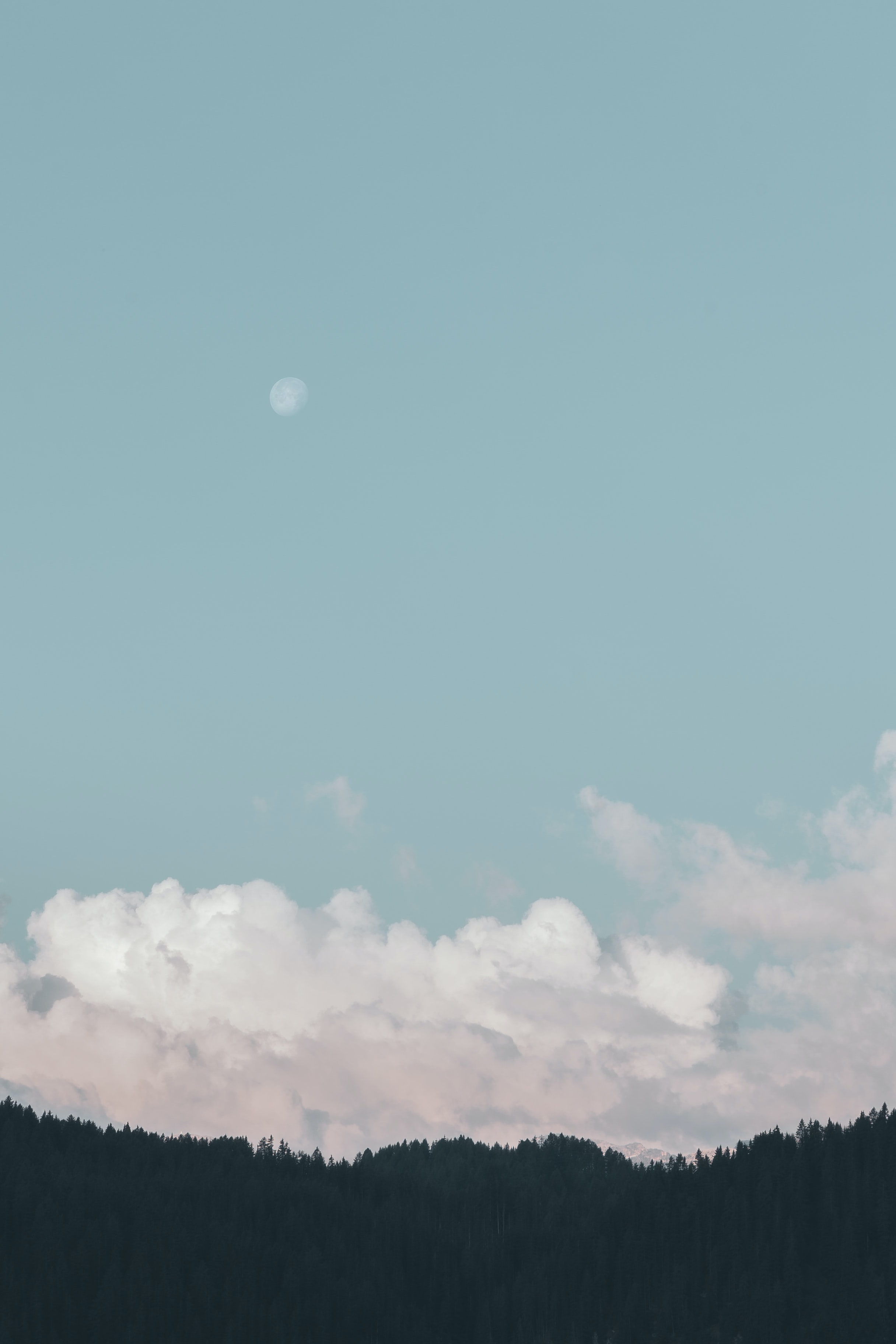 visible moon during daytime
