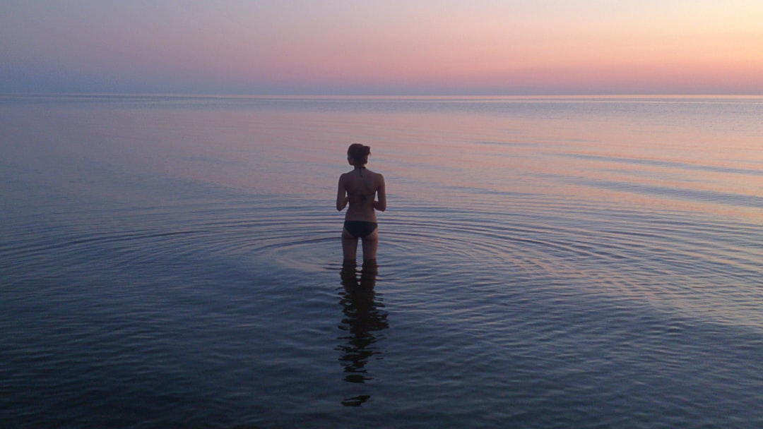 A friend of mine posing before jumping into cool waters of Baltic Sea last summer.