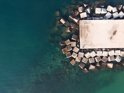 dock surrounded by water