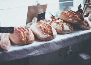bread in display counter