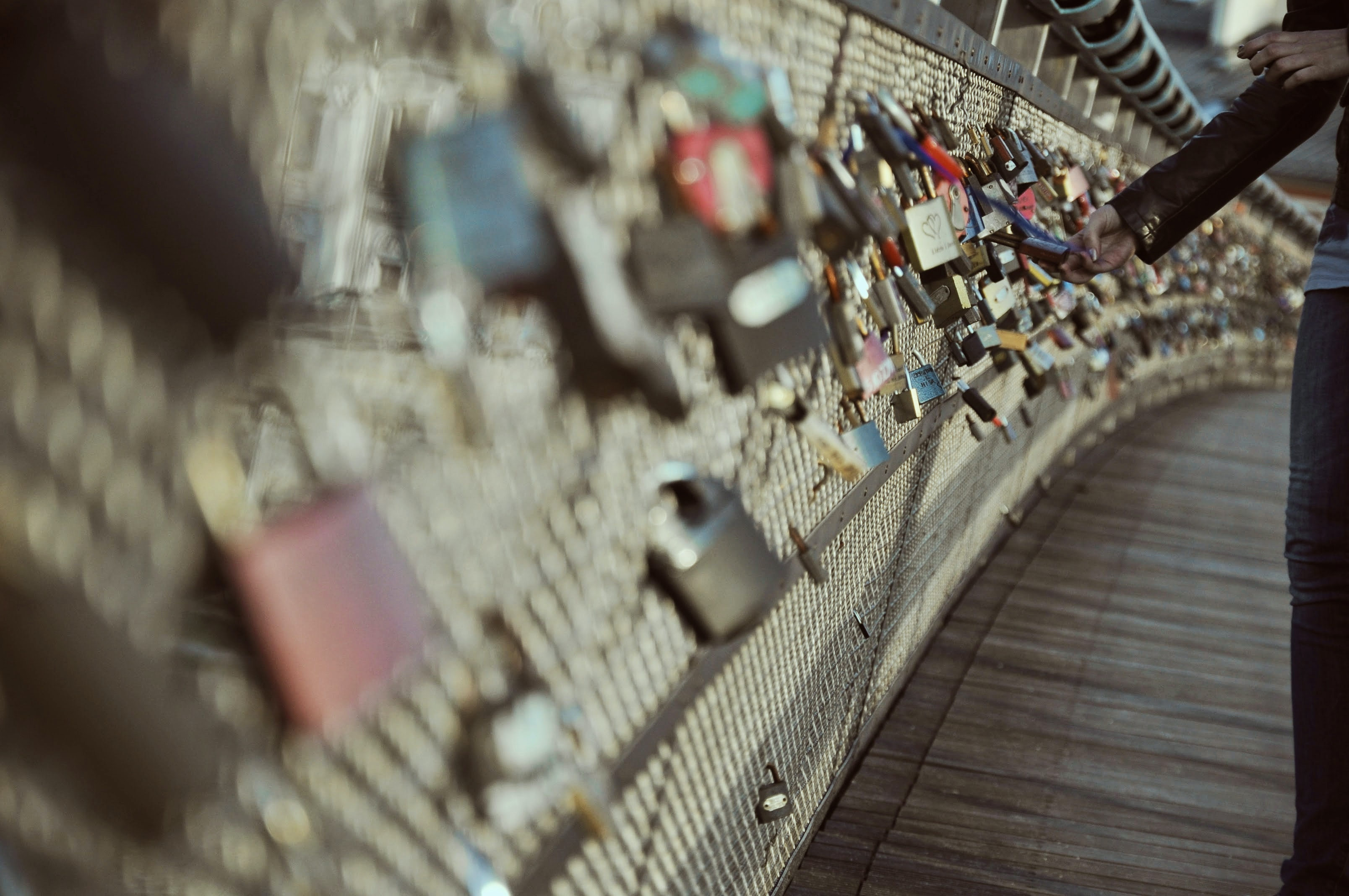 selective photo of love lock paris