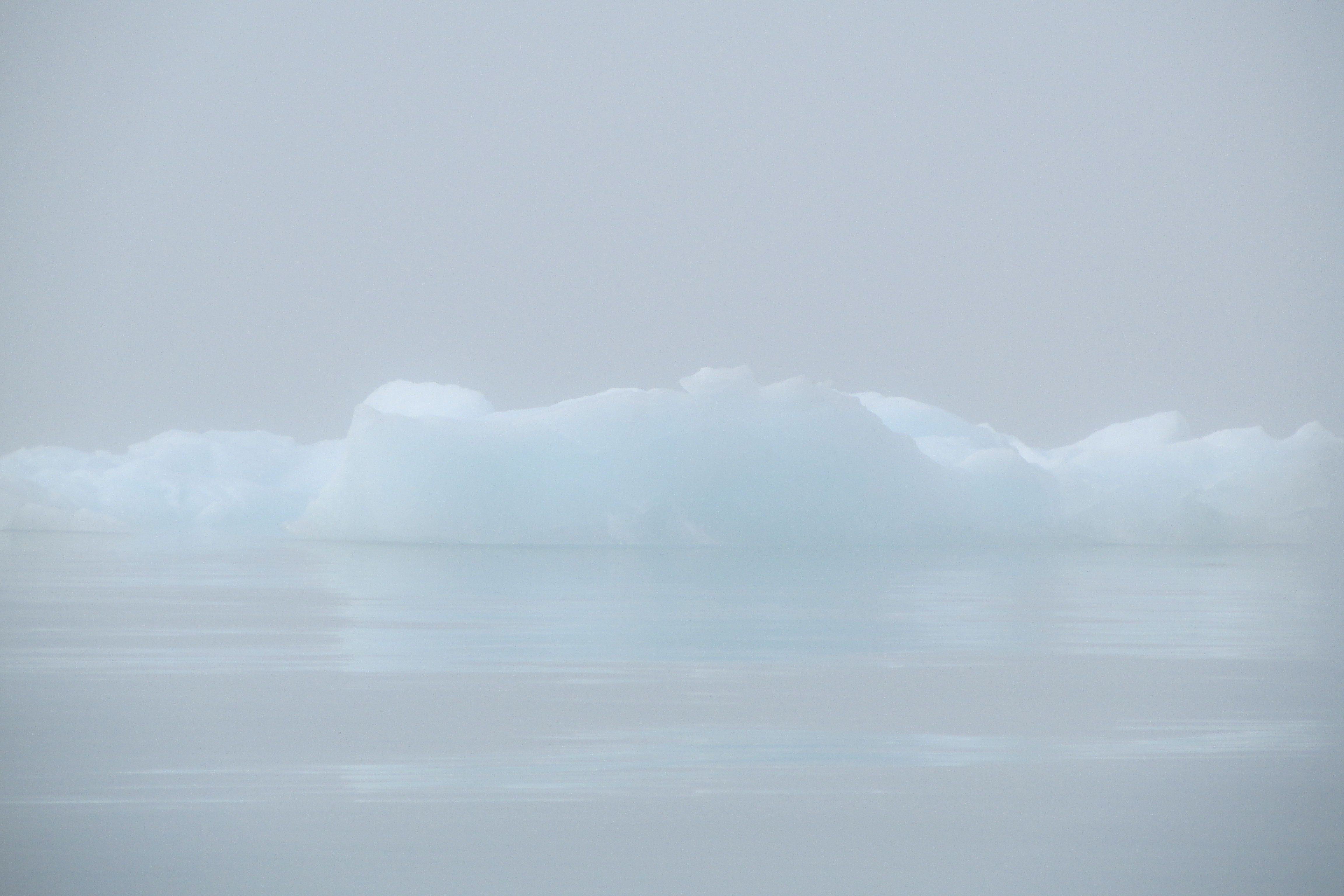 icebergs on body of water