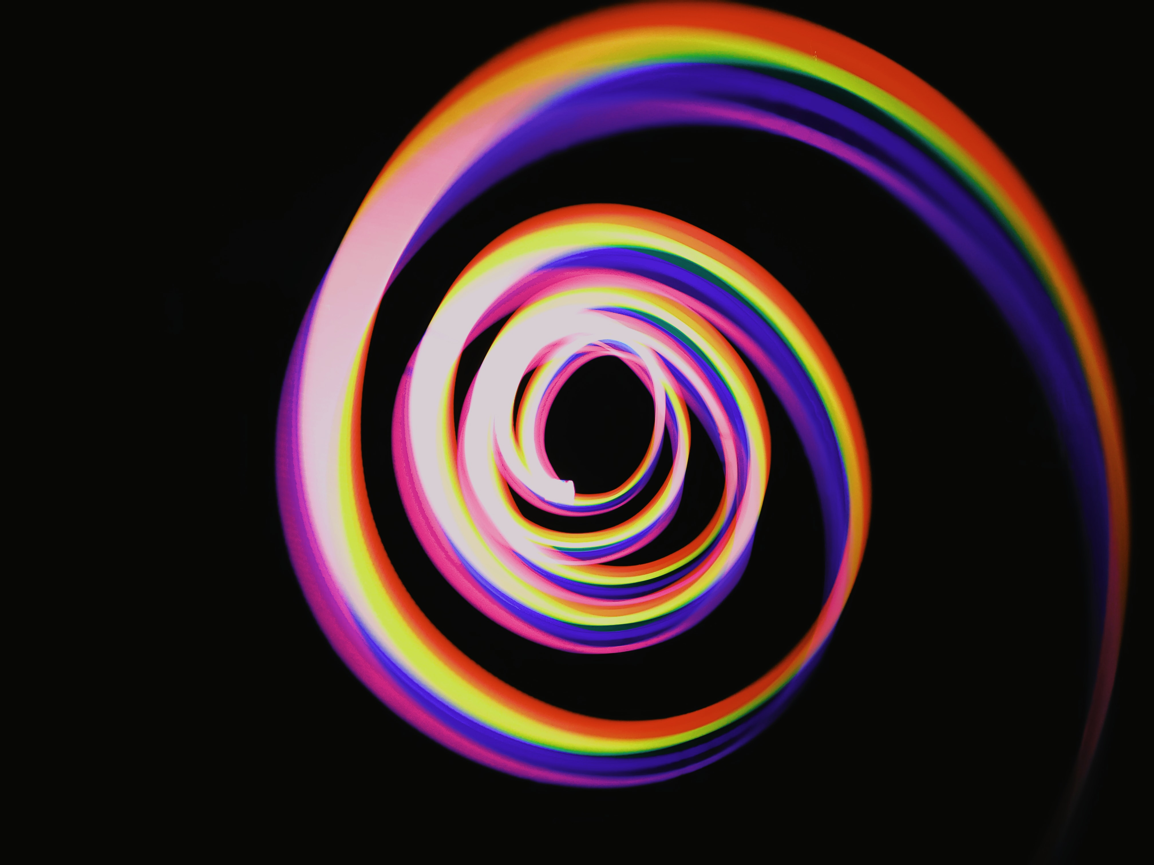 spiral rainbow strings