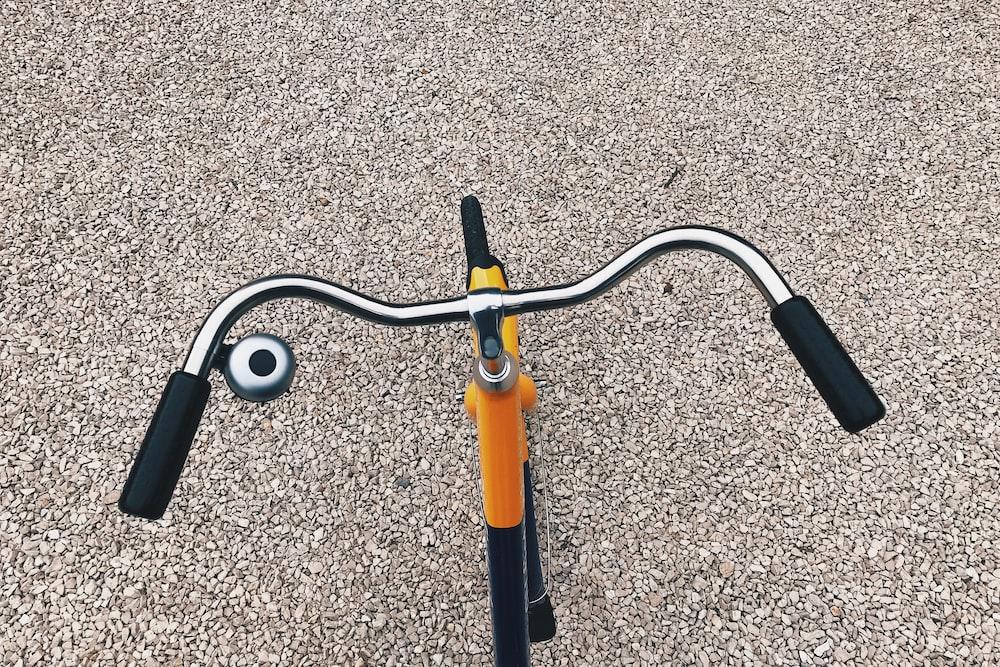 orange and black bicycle