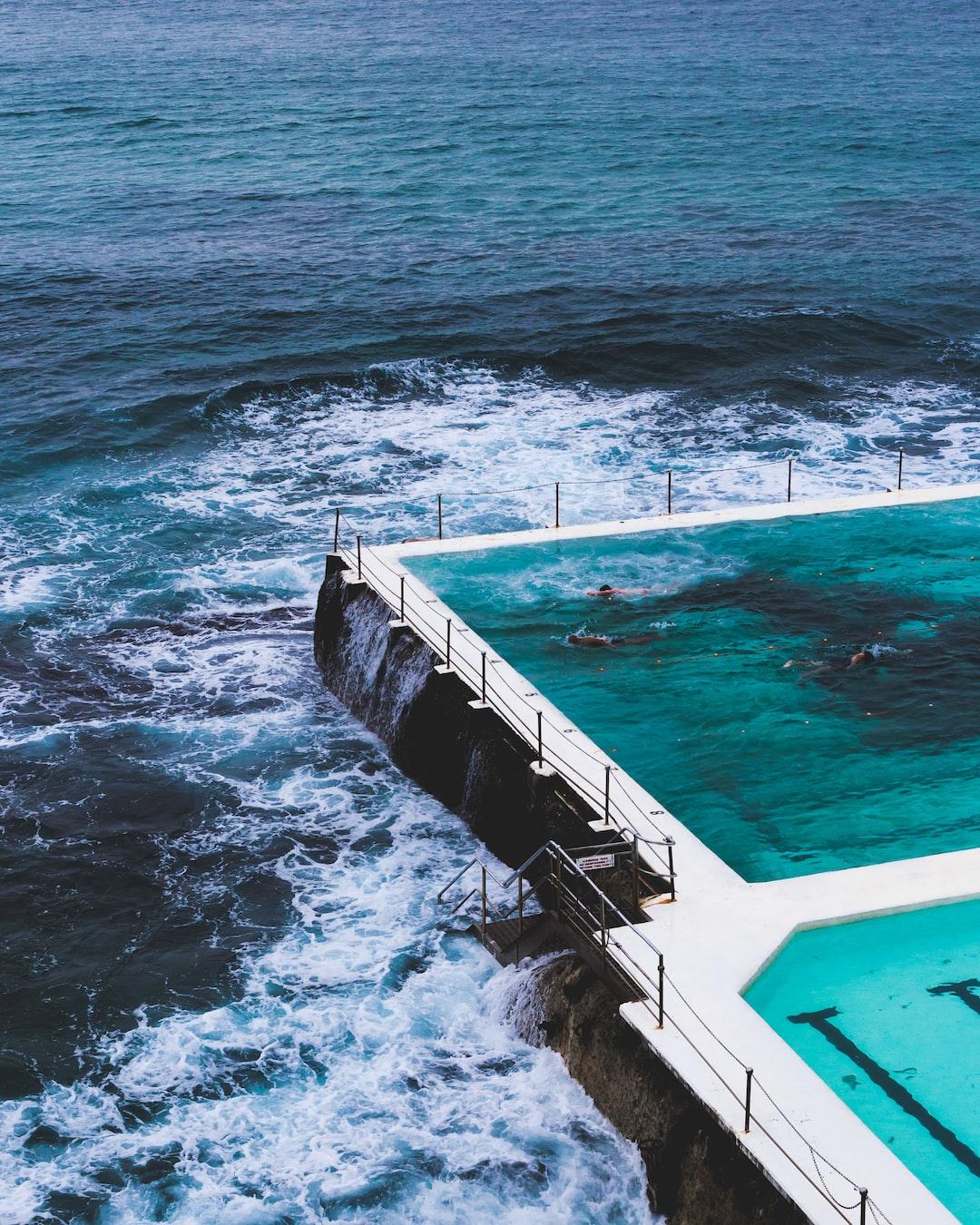 I like this design. Beach + Swimming pool.