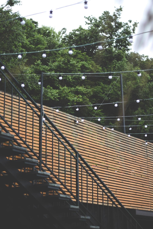 turned-off string lights