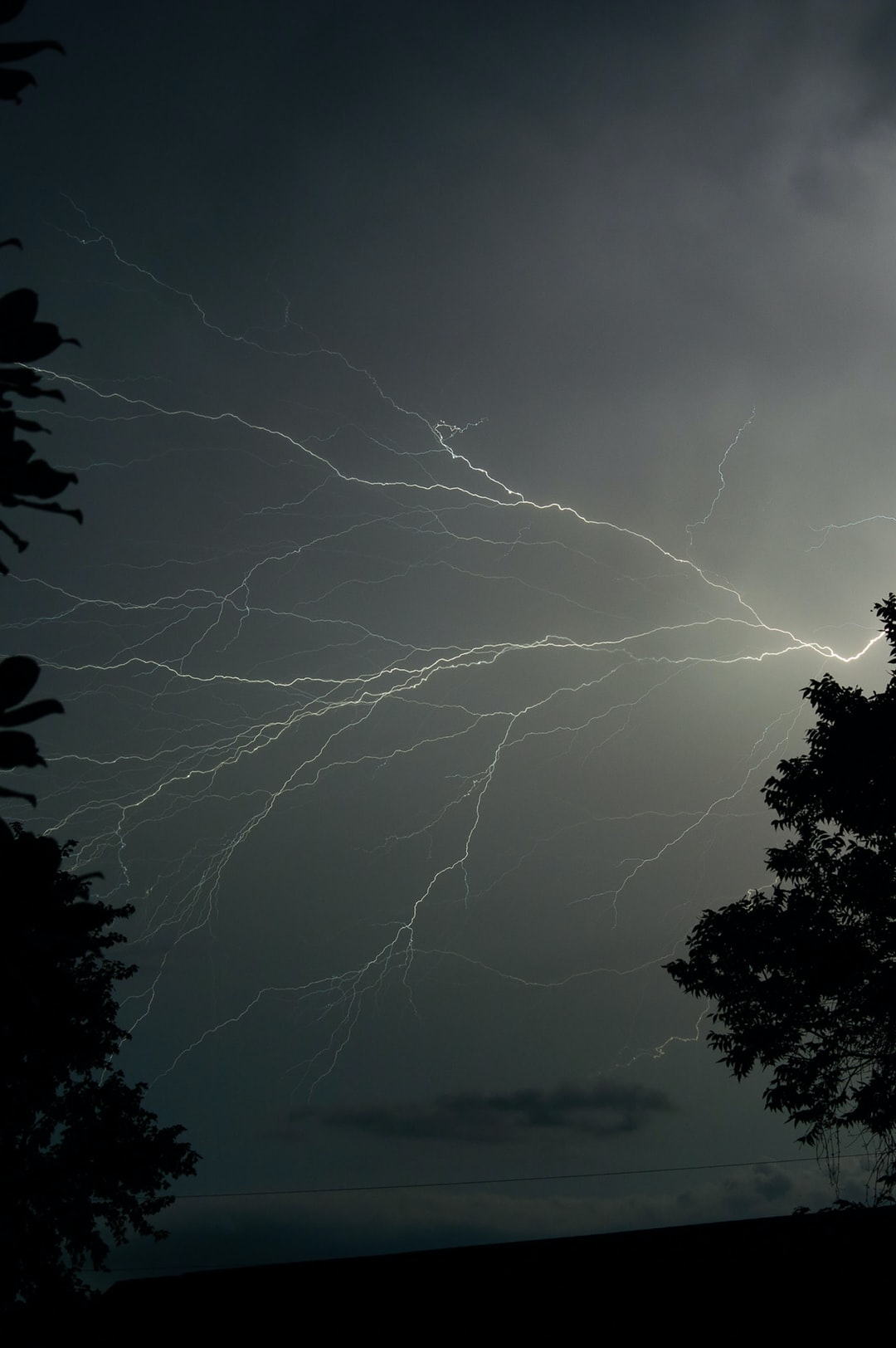 A storm was making its way through North Alabama when I set up my camera on its tripod with my remote shutter release and took this photo and many others of this electric storm.