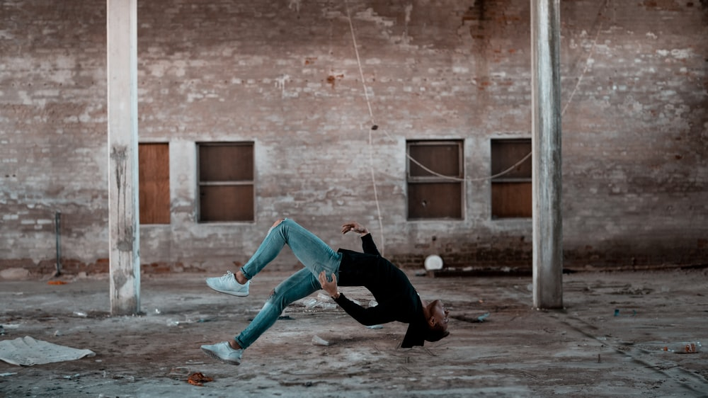 woman doing tricks