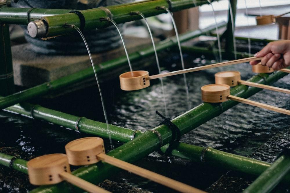 bamboo fountain decor