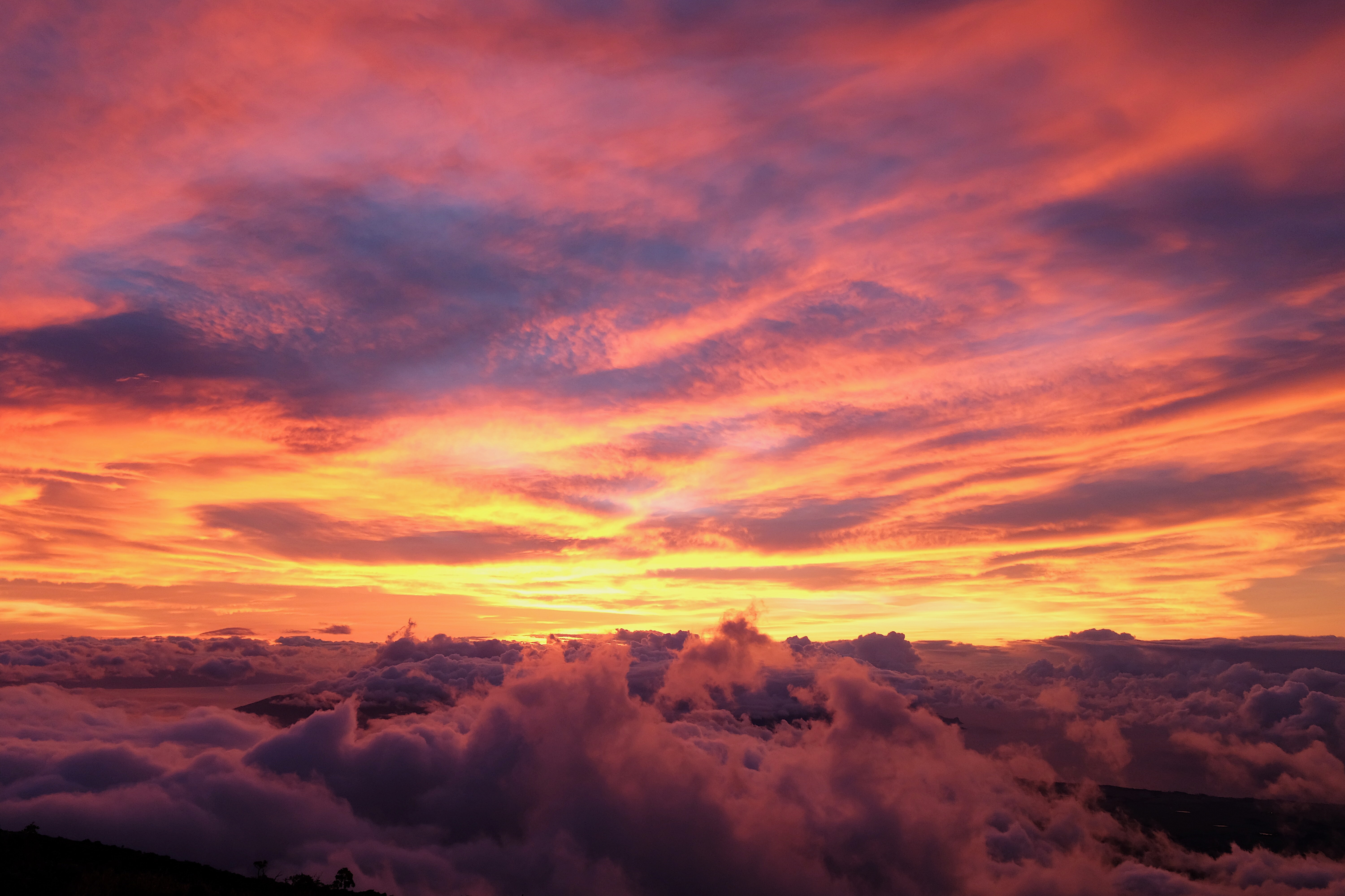 sunset covered by clouds