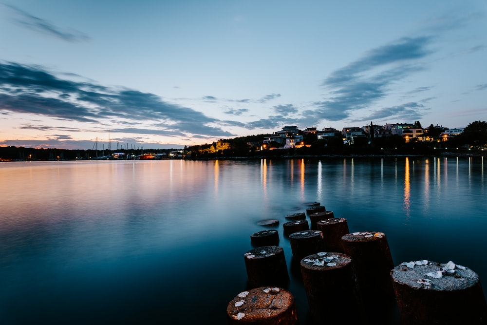 landscape photography of city near body of water