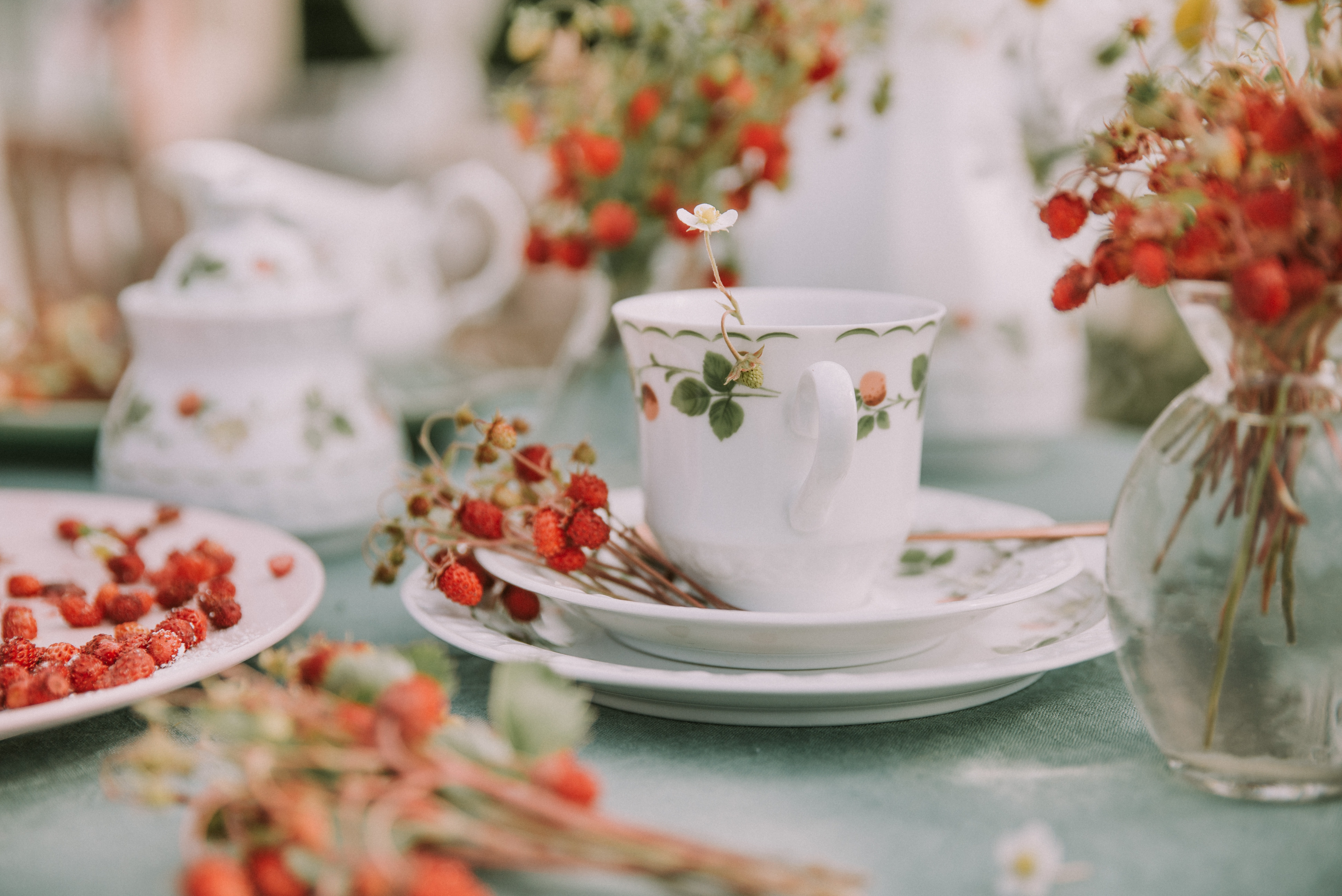 white ceramic cup on saucer