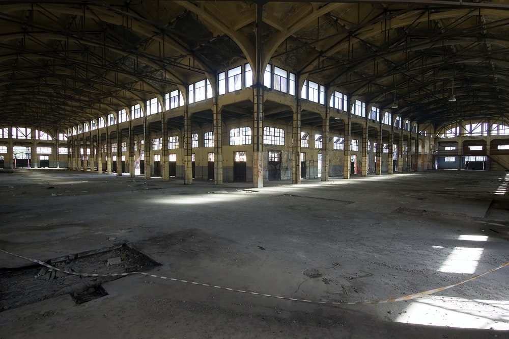structural photography of warehouse