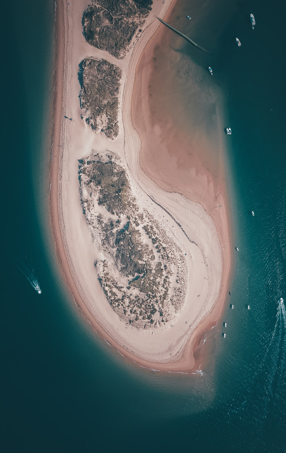 bird's eye view photograph of island