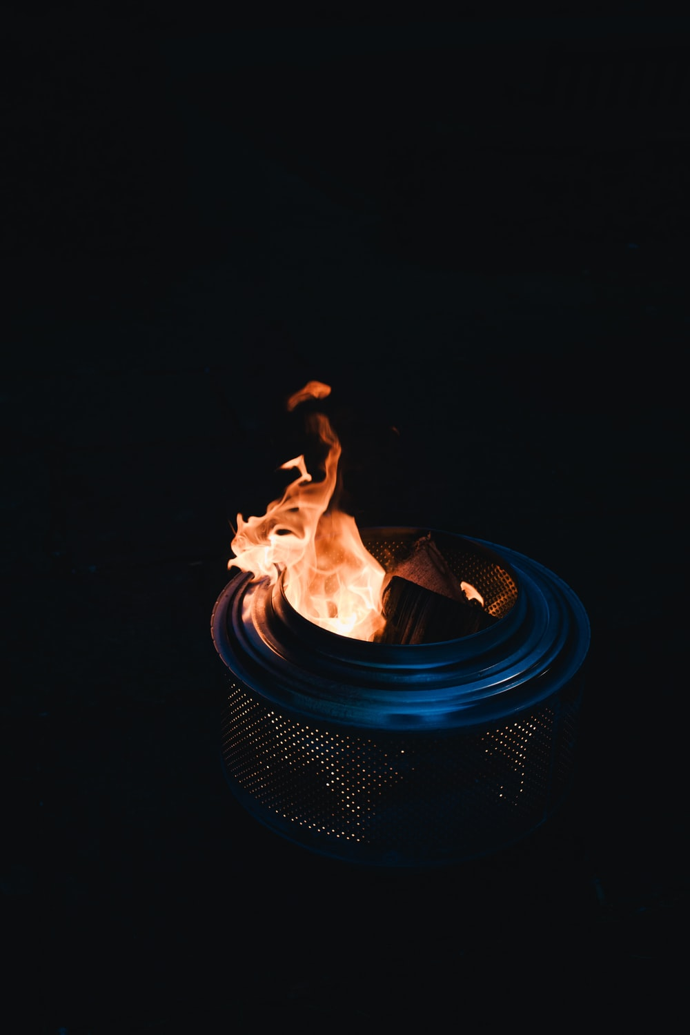 photo of burning charcoal