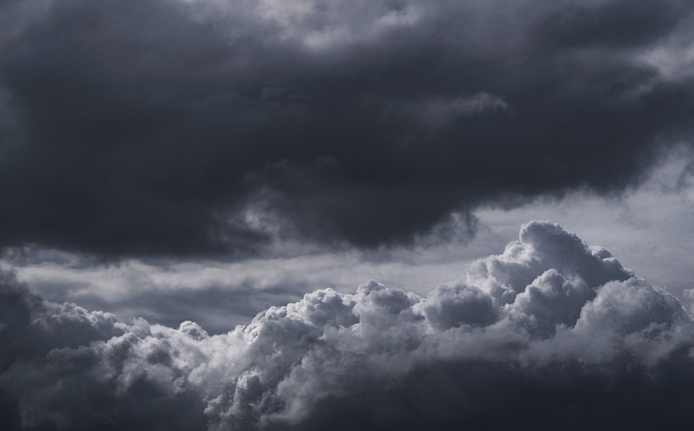 black and gray clouds during daytime