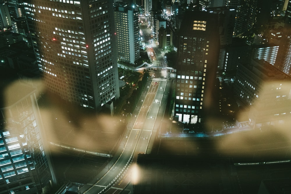 cityscape photo of lighted buildings