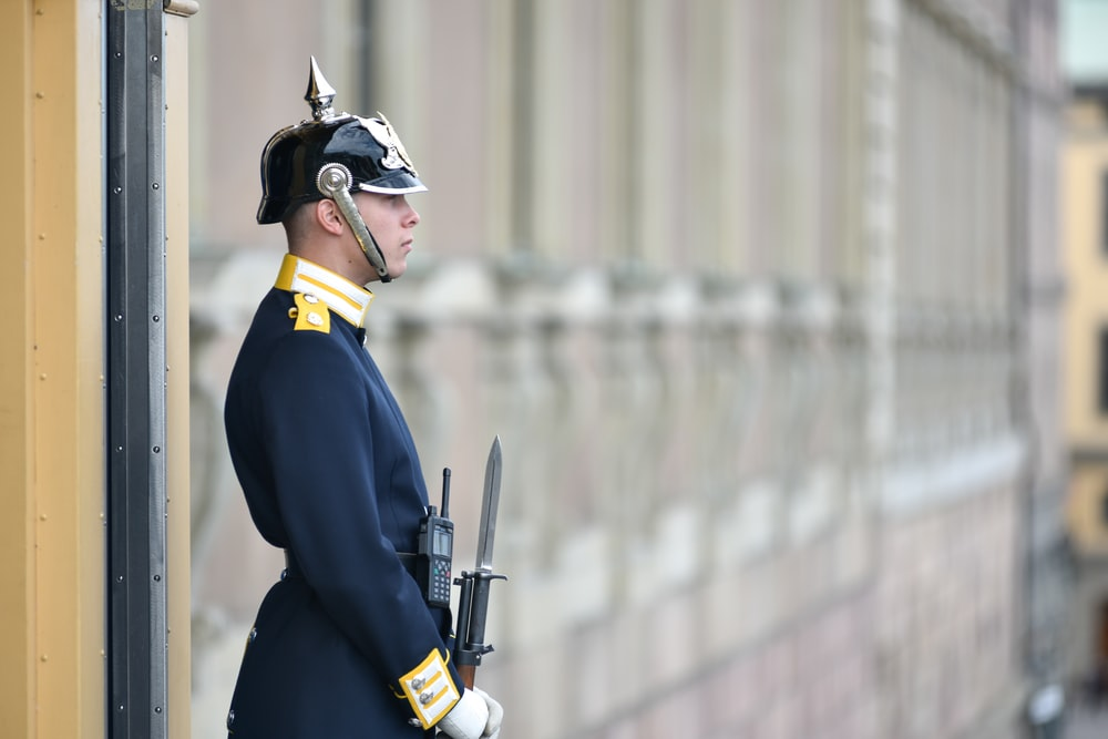 royal guard holding rifle