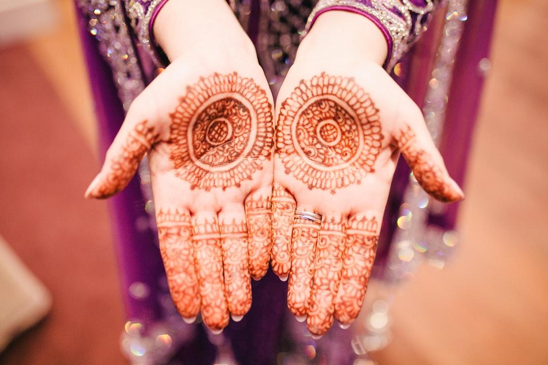 Indian Wedding Henna Bride Hands