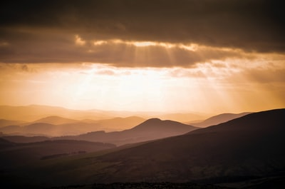 silhouette of mountains christian zoom background