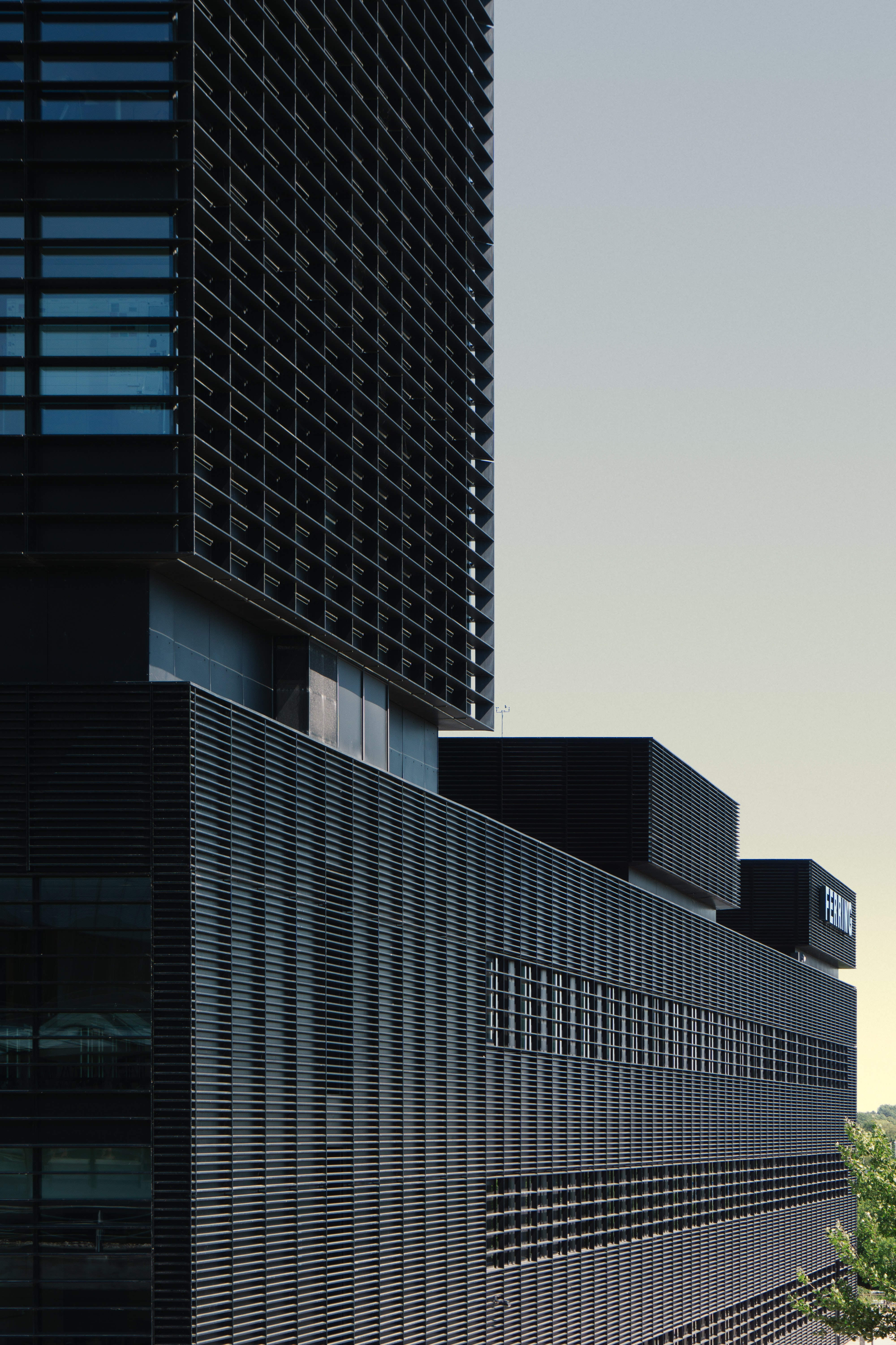 photo of black high-rise building