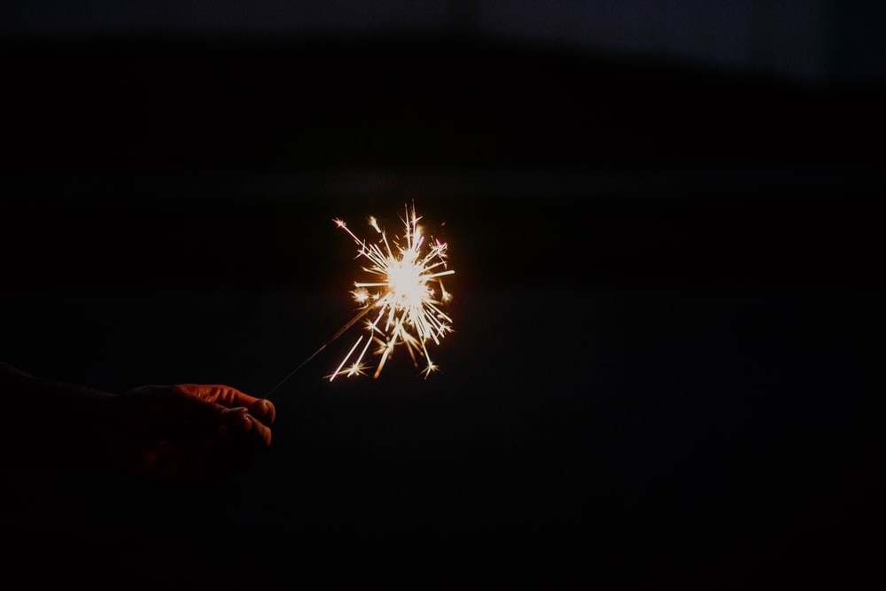 lighted sparkler