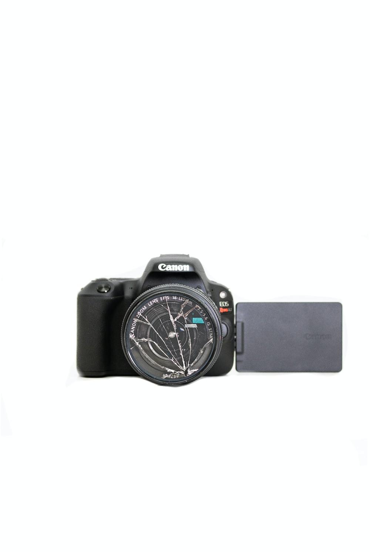 black Canon bridge camera