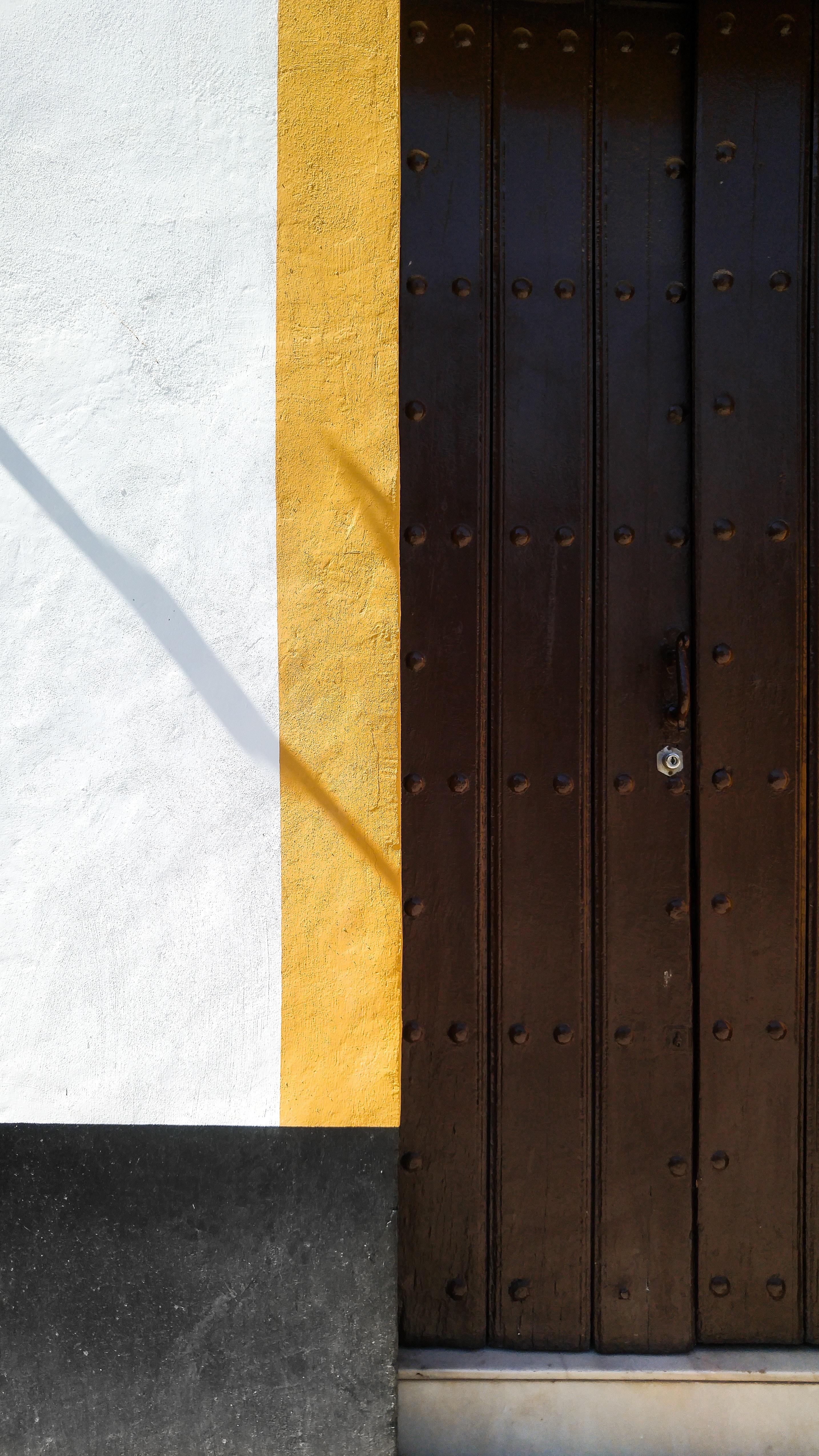 closeup photo of brown door