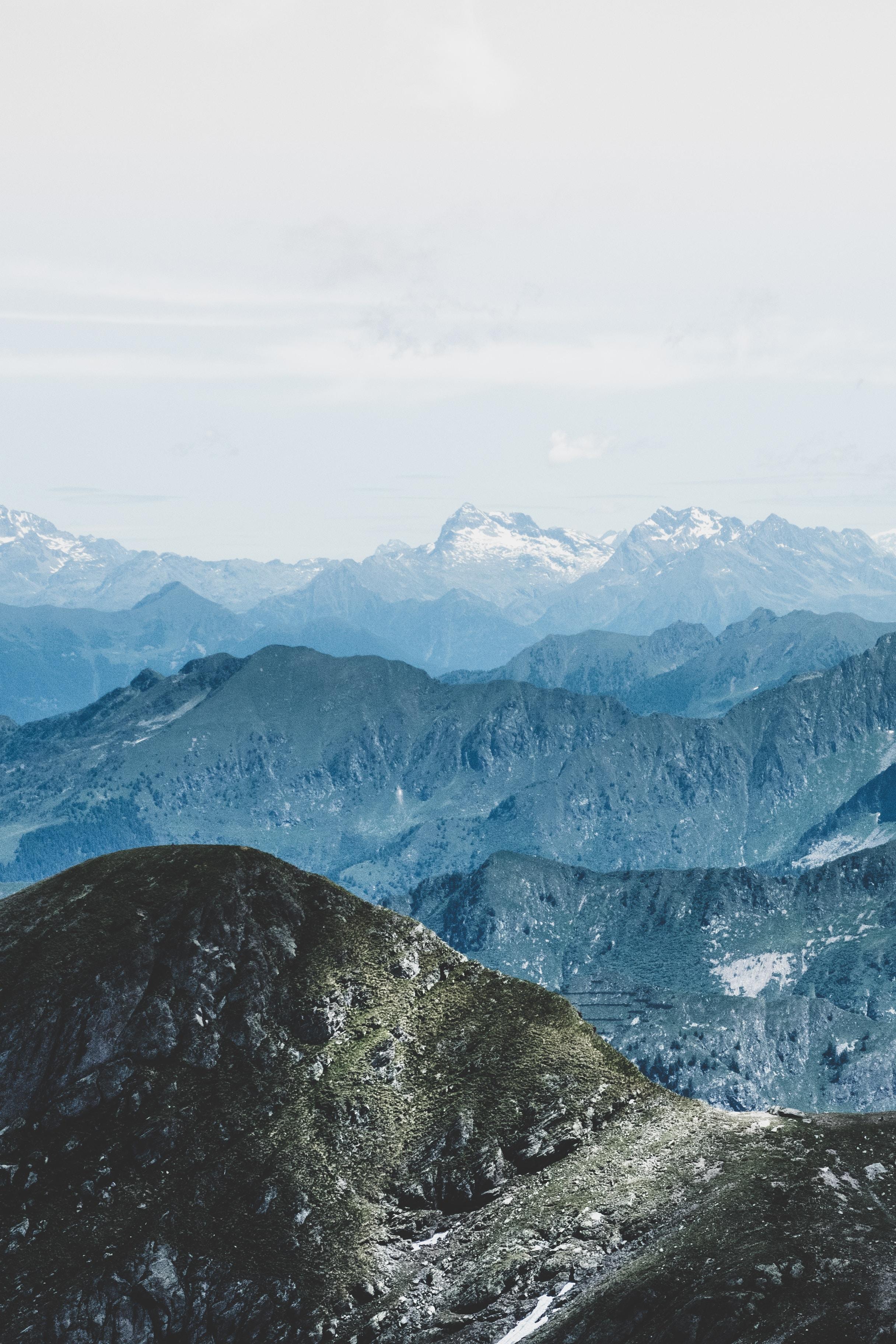 Fault-Block mountain under clouds