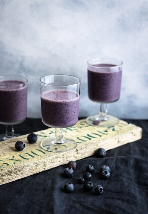Protein Berry Smoothies in glasses