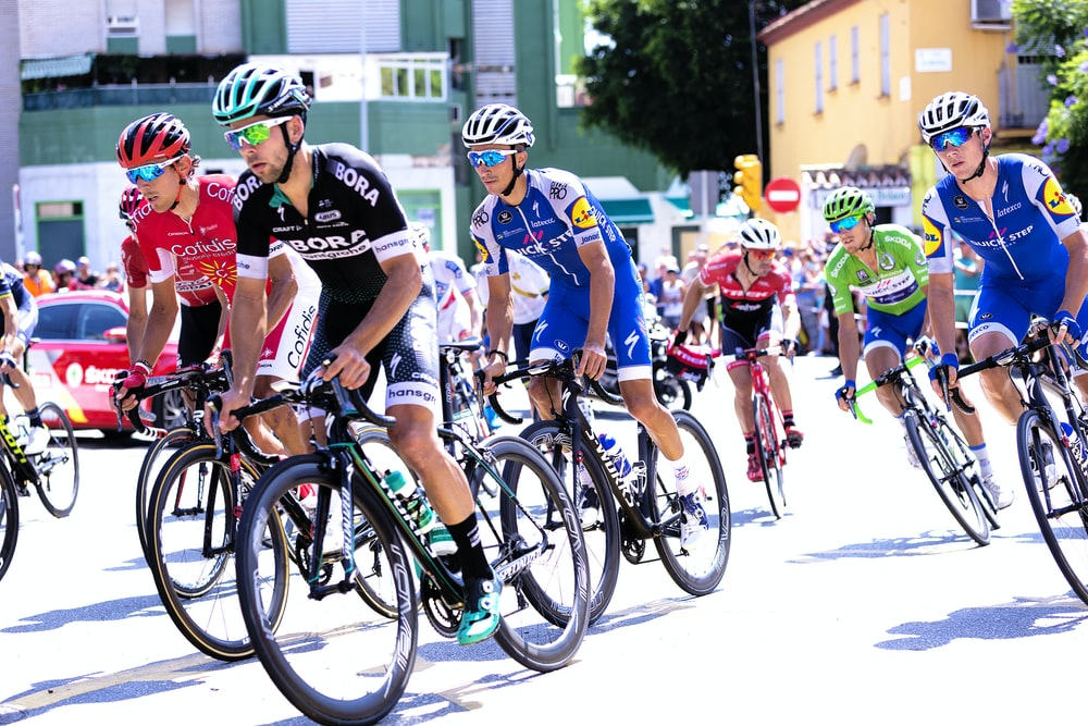 bike race on street during daytime