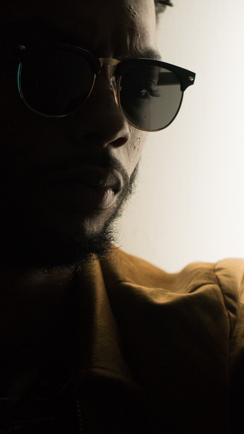 man's wearing sunglasses