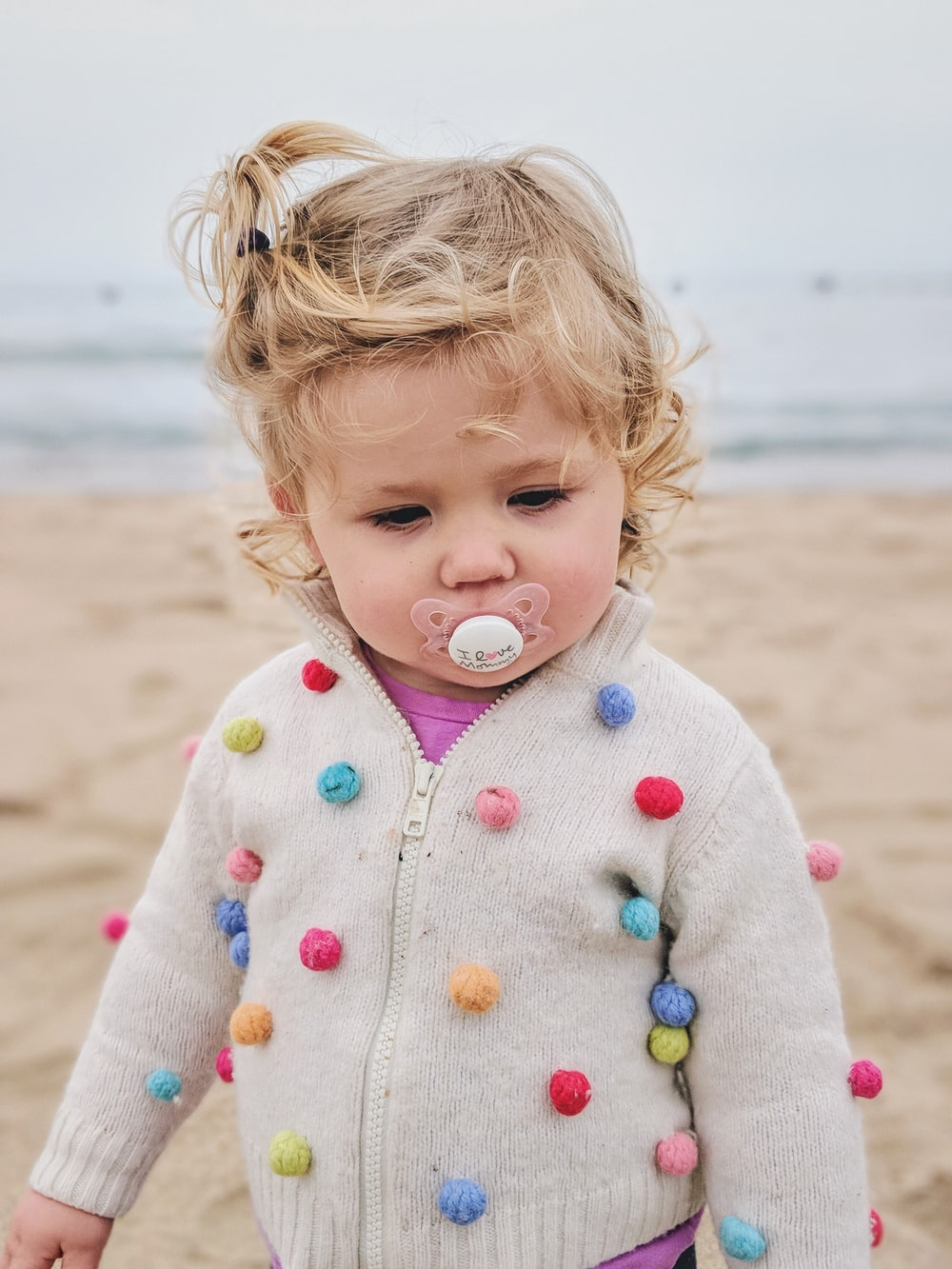 toddler's with pacifier