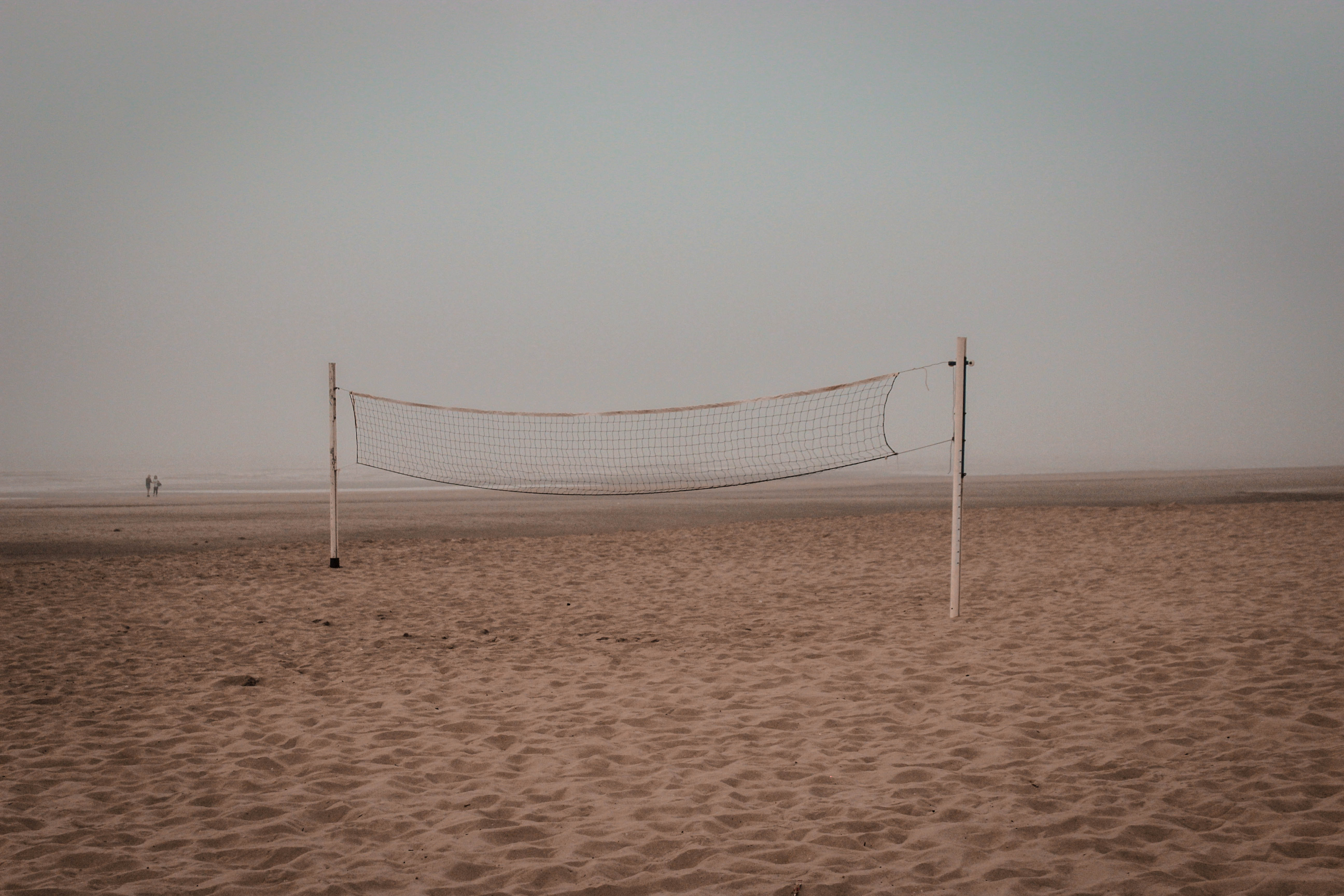 photo of beach volleyball net