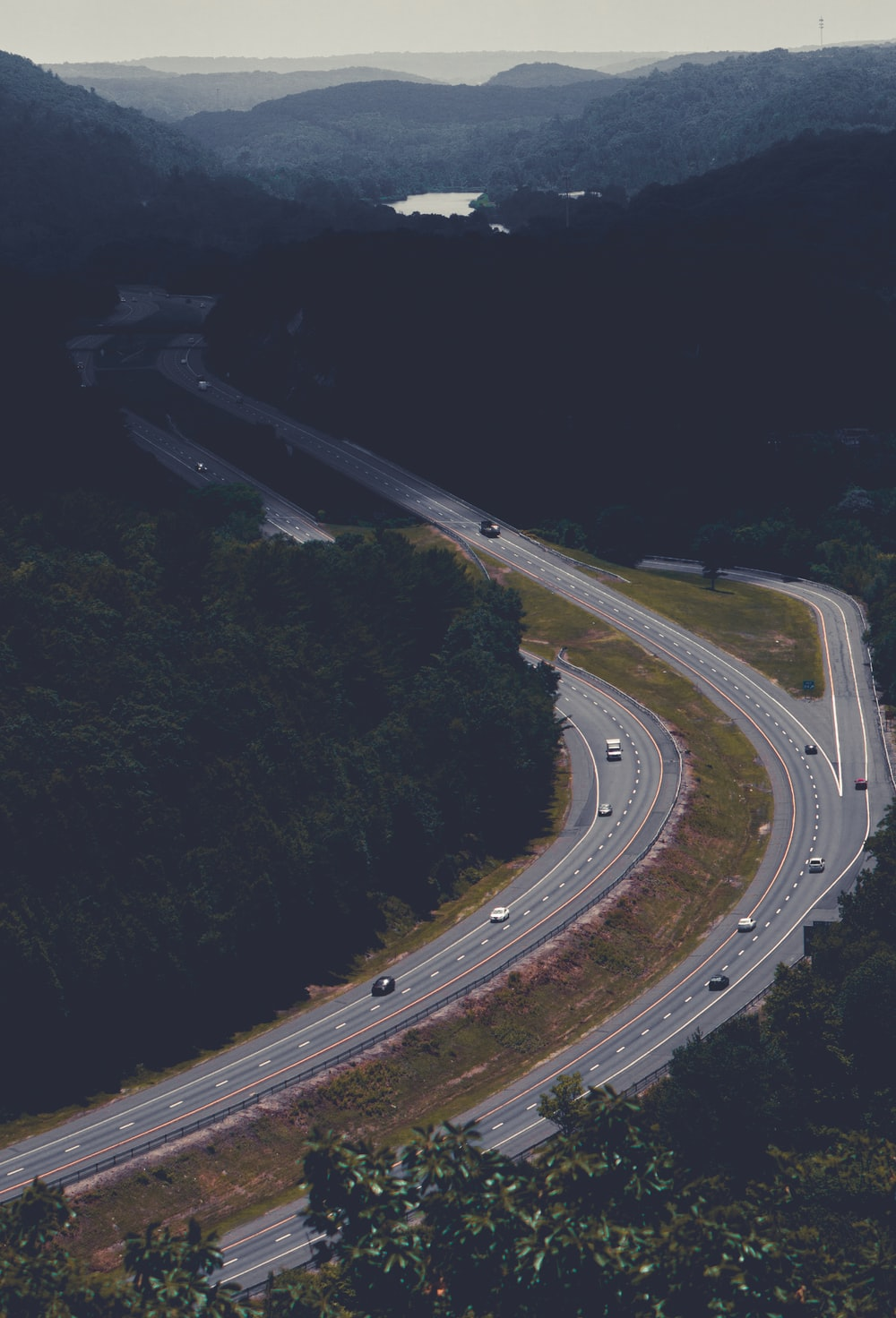 bird's eye view photography of cars