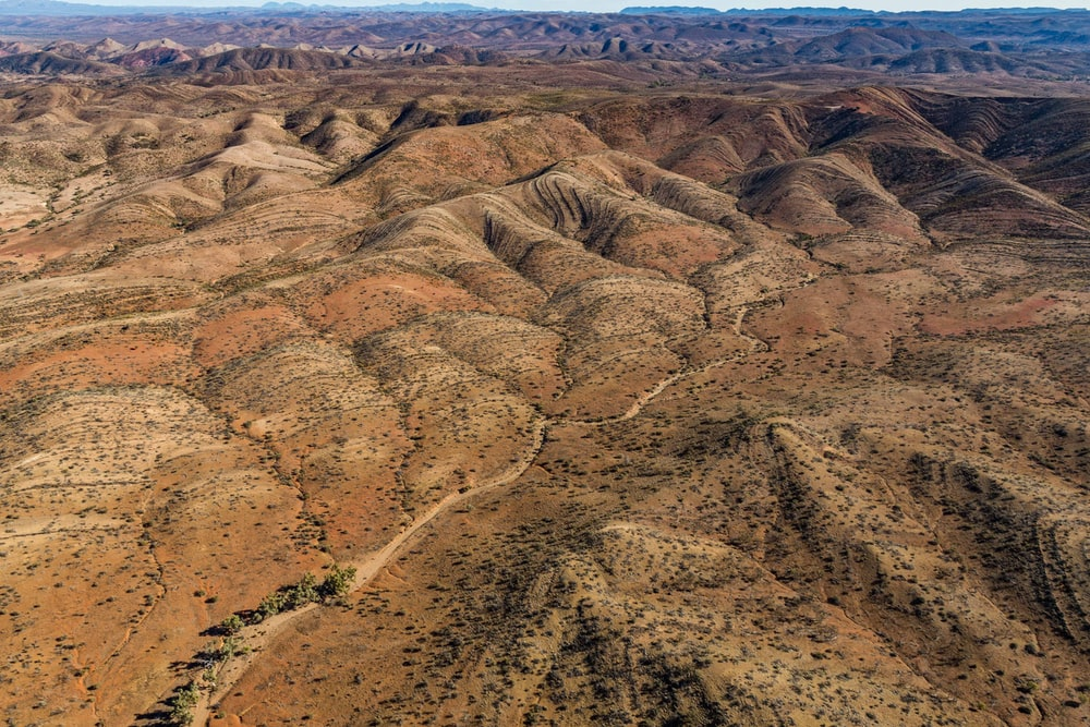 aerial photography of desert