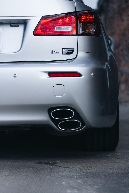closeup photo of silver car
