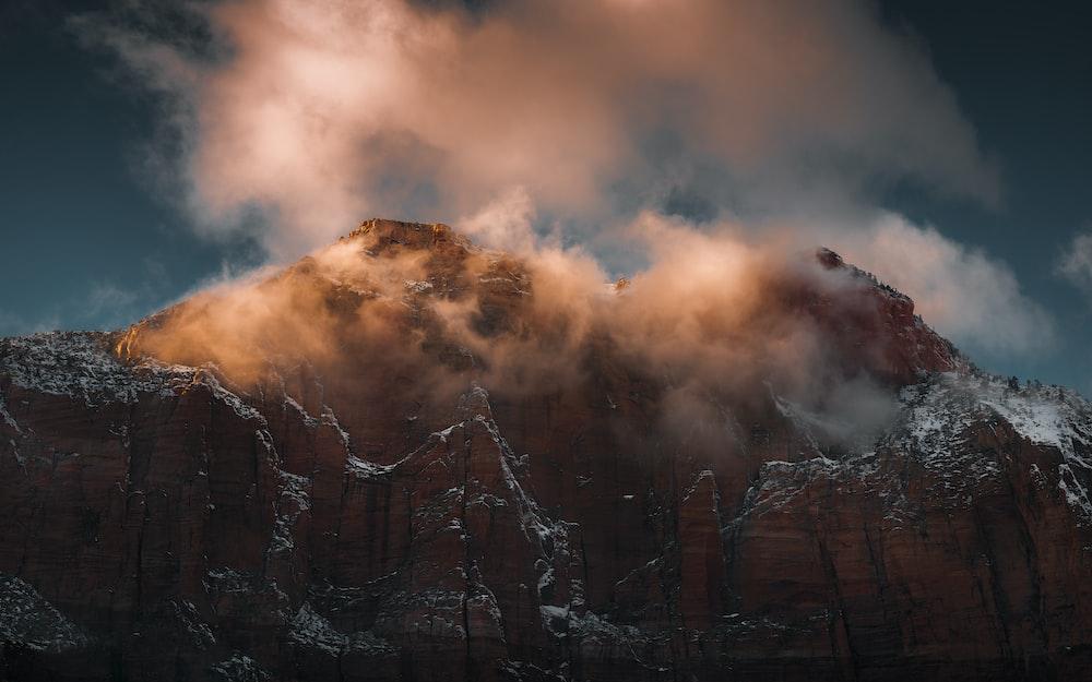 photo of mountain peak