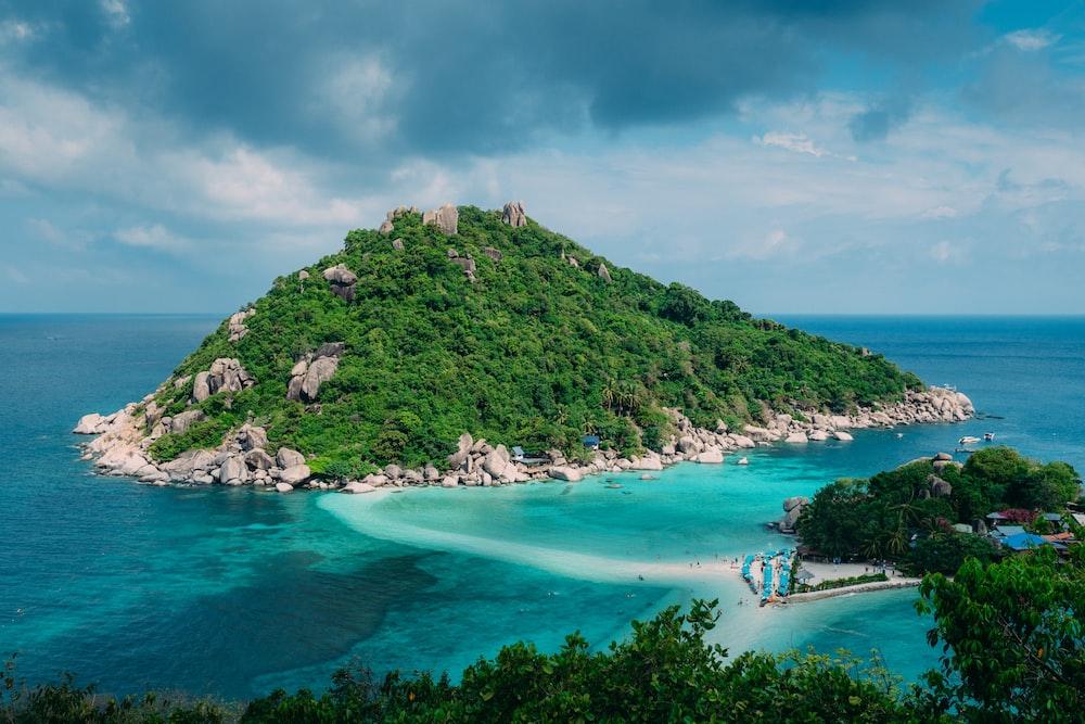 photograph of island